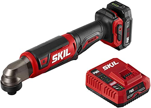 SKIL PWRCore 12 Brushless 12V 1 4 Hex Right Angle Impact Driver, Includes 2.0Ah Lithium Battery PWRJump Charger – RI574502