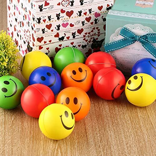 5 Colori RoadRoma 12 Pezzi Sorriso Palla Antistress Schiuma Spugna Palle Mano Forza Giocattolo di Compressione