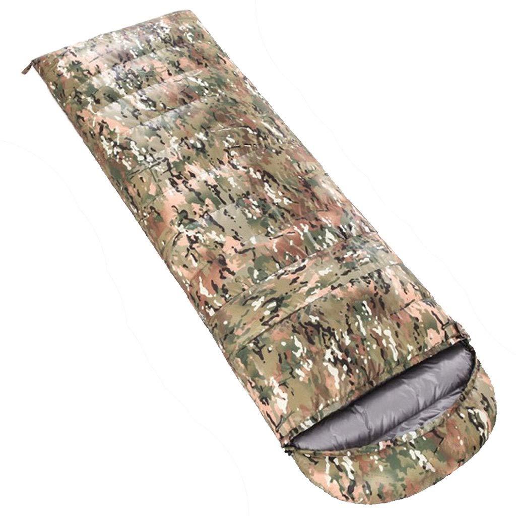E 0.8kg DGB Enveloppe Sac De Couchage Camping Ultra-léger en Plein Air Randonnée Pause-déjeuner Le Duvet De Canard Blanc Adulte Camouflage Peut Être Cousu