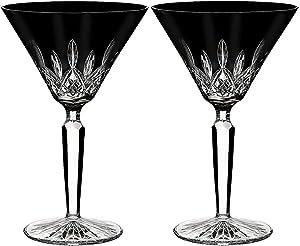Waterford Lismore Black Set of 2 Crystal Martini Glasses