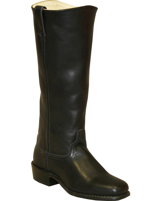 Abilene Men's Cowhide Shooter Boot Square Toe Black 11 EE by Abilene