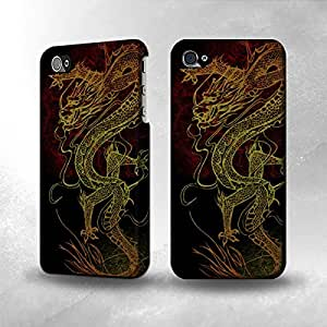 Apple iPhone 4 / 4S Case - The Best 3D Full Wrap iPhone Case - Chinese Dragon