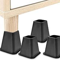 4-delige meubelverhoger beenkussenset, 6 inch stevige bedstoel bankverhoger voeten liftset, groot hoog 16,5 * 15,5 cm…