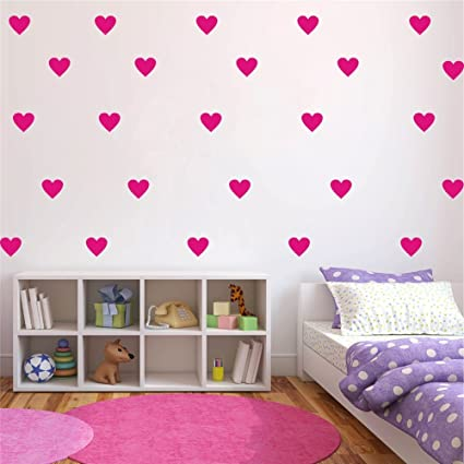 Amazon Com Yoyoyu Set Of 96 Pieces 2 Heart Wall Decor Sticker Diy