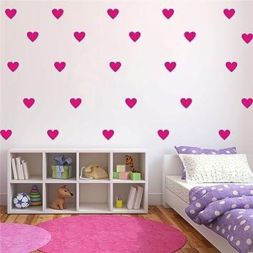 Yoyoyu Set Of 96 Pieces 2 Heart Wall Decor Sticker Diy Children S Wall Decor Decals Removable Vinyl Kids Room Baby Boys Grils Bedroom Wall Sticker