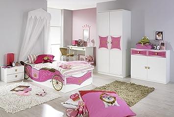Stellma/ß BxHxT 326x199x238 cm Rauch Kinderzimmer Jugendzimmer Wei/ß-Rosa 4-teilig
