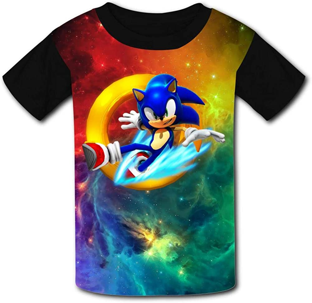 Creative Sonic Runners Logo Kids T-Shirts Short Sleeve Tees Summer Tops for Youth//Boys//Girls