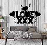 BorisMotley Wall Decal Love Sex Shop Heart Vinyl Removable Mural Art Decoration Stickers for Home Bedroom Nursery Living Room Kitchen