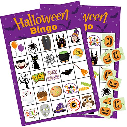 Halloween Tea Party Games (Fancy Land Halloween Bingo Game 24 Players for Kids Party)