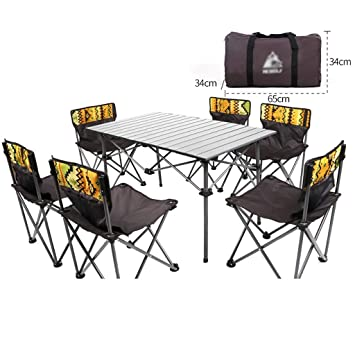 Mesas Acampada Outdoor De Mesa Con Lw Sillas Plegable Juego VzGLSUjqMp