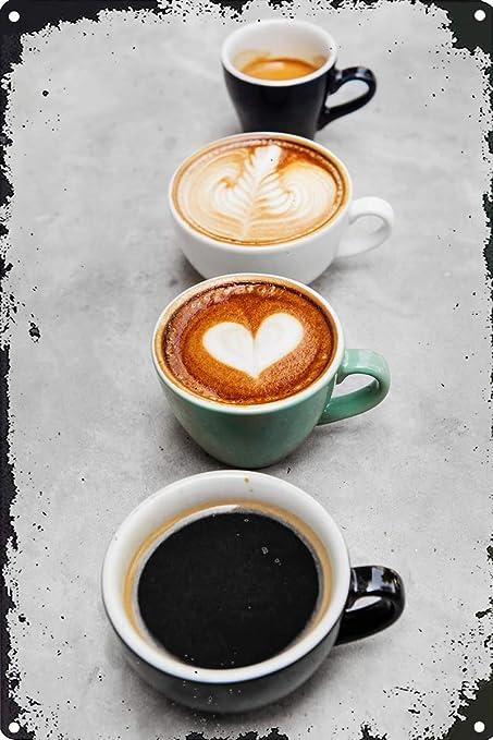 LAUGH WELL Combination of Coffee Cartel de Chapa metálica ...