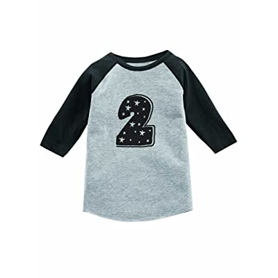 I'm 2 Years Old Superstar Birthday Gift 3/4 Sleeve Baseball Jersey Toddler Shirt