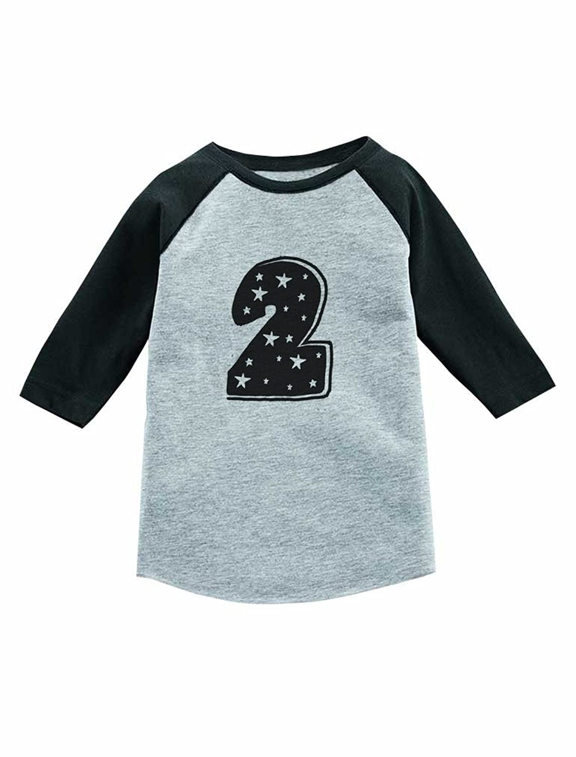 Im 2 Years Old Superstar Birthday Gift 3 4 Sleeve Baseball Jersey Toddler