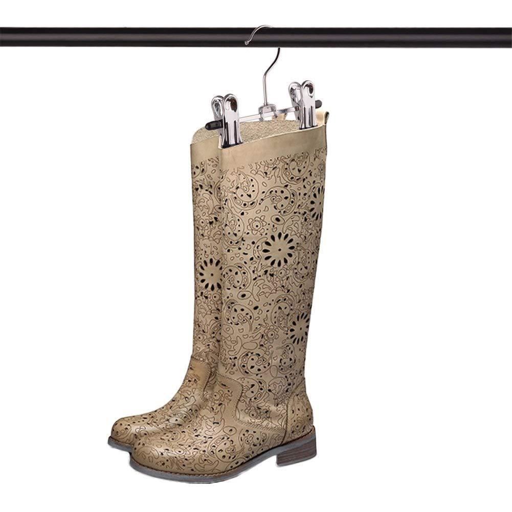 YsinoBear Zapatilla ajustable de acero inoxidable Pantalones de rejilla Carpeta multifuncional Port/átil ropa de viaje lavadora ganchos de cremallera calcetines Clip Suspensi/ón Juego de 6 Percha de Ysi