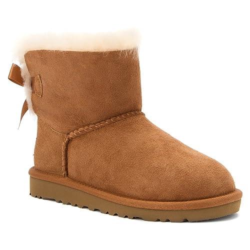 Botas Ugg Mini Baley Bow Chestnut 30 Camel: Amazon.es: Zapatos y complementos