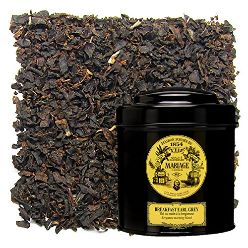 Breakfast Tea Caddy - MARIAGE FRERES. Breakfast Earl Grey, 100g Loose Tea, in a Tin Caddy (1 Pack) Seller Product Id MRLS67 - USA Stock