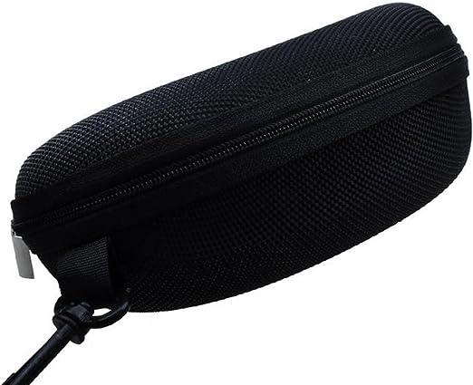 LAMEIDA Estuche para Gafas con Grande Capacidad con Cremallera Resistente y Llavero Funda de Gafas Rígidas Impermeable para Gafas de Sol Almacenaje Lente Suave Sunglasses Case-Negro: Amazon.es: Hogar