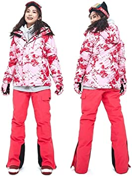 Kevinliu Costume d'hiver Ski Veste Pantalon Super Chaude Ski
