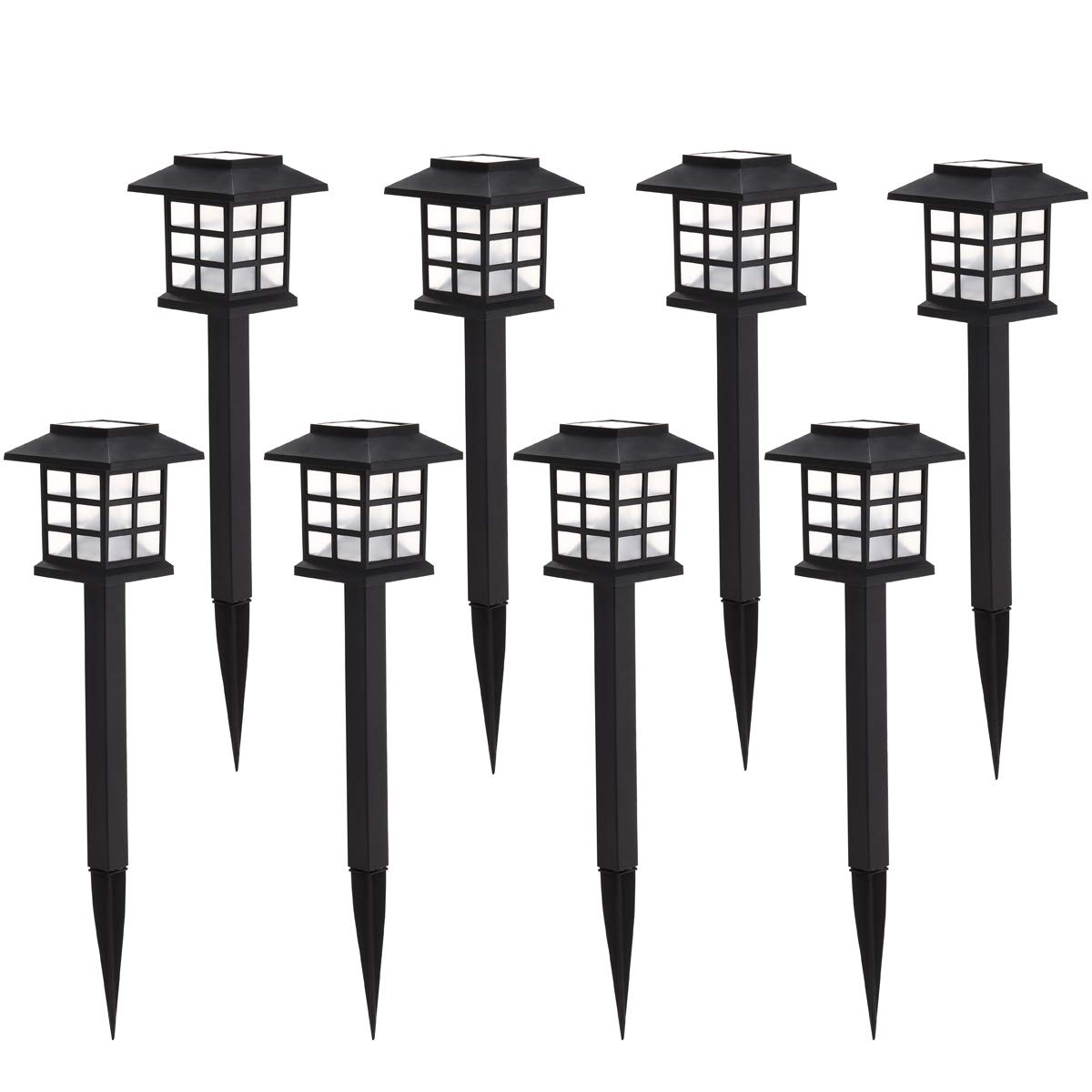 AILATAN 8 Pack Solar Pathway Lights Outdoor,Waterproof Outdoor Garden Lights,Outdoor Landscape Lighting for Garden, Landscape, Path, Yard, Patio, Driveway, Walkway-(Warm White) by AILATAN