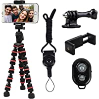 Phone Tripod, Linkcool Octopus Tripod with Wireless Remote Phone Holder Mount Use as iPhone Tripod, Cell Phone Tripod…