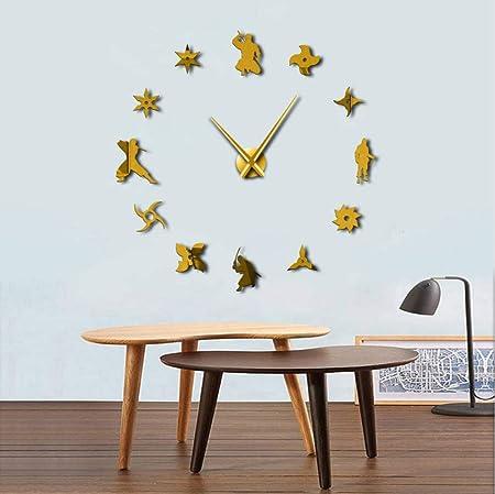 jukunlun Ese Ninja Silencioso Grande DIY Reloj De Pared ...