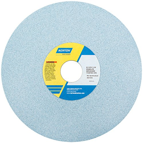 Grinding Wheel, T1, 8x1/2x1.25, CA, 46G, PK5 by Norton