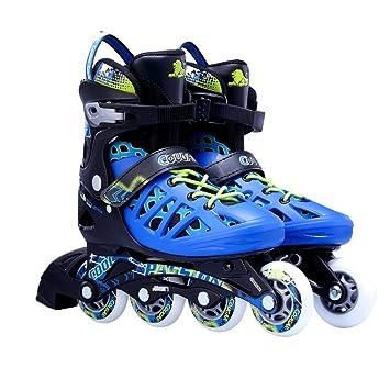 Sunkini Patines en línea 4 ruedas Skate Patines en línea profesional slalom Patinaje patinaje patinaje patinaje ajustable para principiantes: Amazon.es: ...