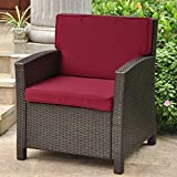Cheap International Caravan Valencia Outdoor Patio Chair in Chocolate and Merlot