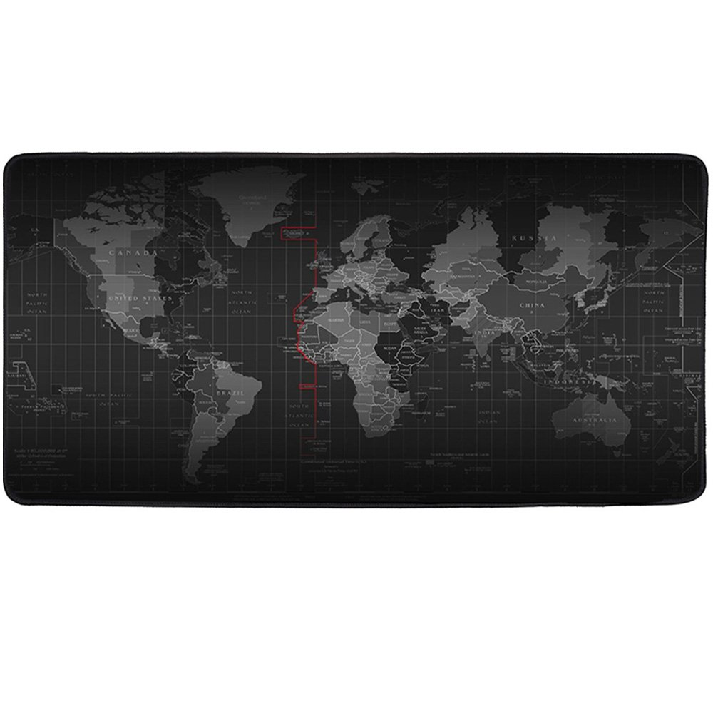 Cmhoo XXL Professional Large Mouse Pat & Computer Game Mouse Mat (35.4x15.7x0.1IN, Map)