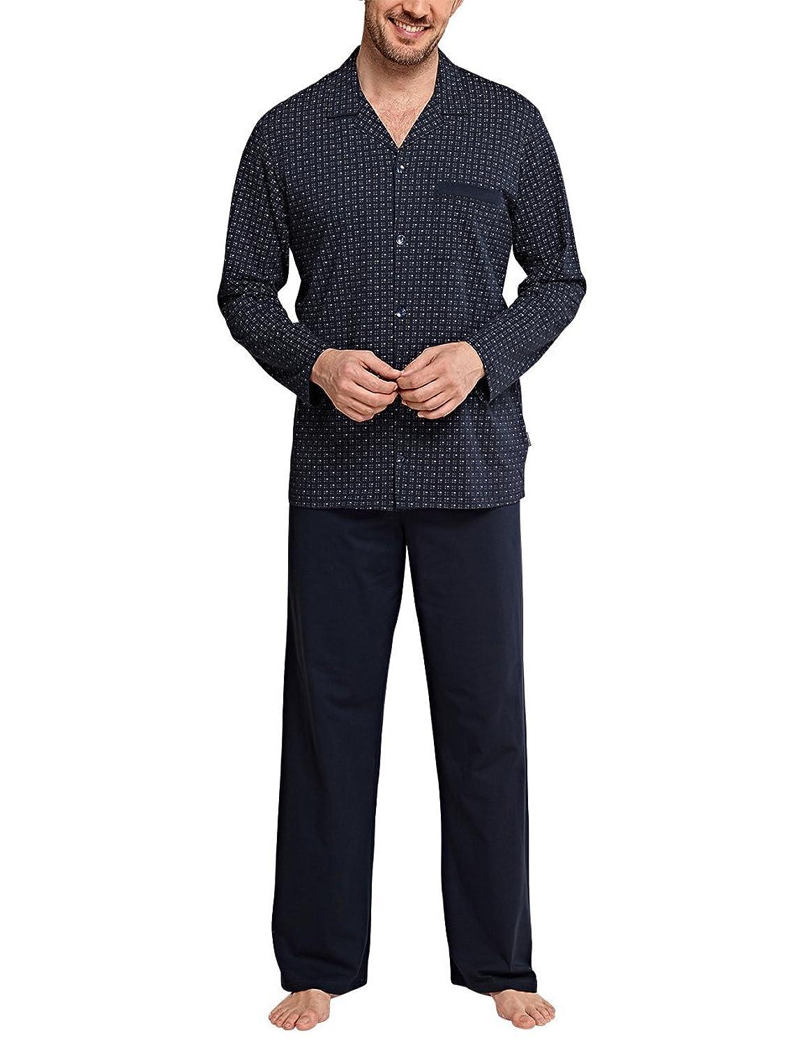 Schiesser Herren Zweiteiliger Schlafanzug Original Classics Pyjama Lang