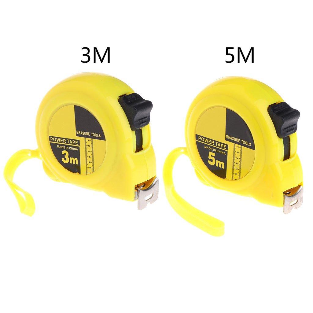 Cinta m/étrica retr/áctil de acero inoxidable Qianqian56 3 m, 5 m amarillo