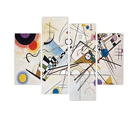 COMPOSITION 8 BY WASSILY KANDINSKY OIL PAINTING RE-PRINT FRAMED CANVAS WALL ART