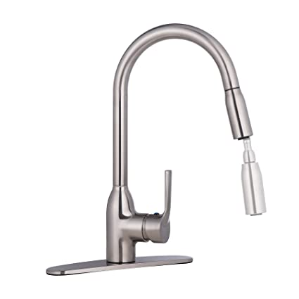 Co Z Pull Out Kitchen Sink Faucet 360 Swivel Single Handle Brushed