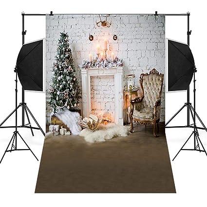 sunshinehomely decor merry christmas home decoration christmas backdrops snow vinyl 5x3ft 3d photography studio - Amazon Christmas Home Decor
