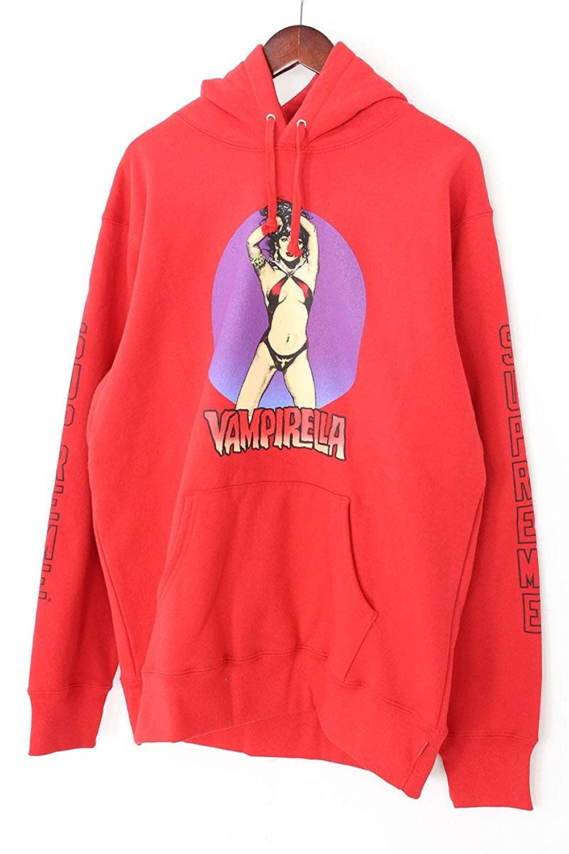 (シュプリーム) SUPREME 【17SS】【Vampirella Hooded Sweatshirt】ヴァンピレラパーカー(XL/レッド) 中古 B07D545GGS