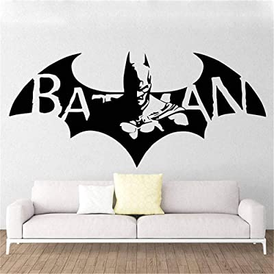 Ysisa Batman Wall Decal Sticker Batman Hero Vinyl Wall Decal Cartoon Home Decor Kids Room Art Mural Removable Wall Sticker: Home & Kitchen