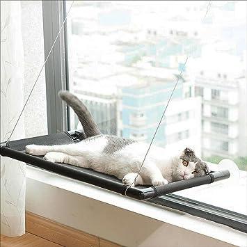Zheng Hui Shop Hamacas Hamaca Plana Colgante Hamaca de Gato Taburetes de Ventana Arena para Gatos Hamaca para Mascotas (Color : Black, Size : 40 * 66cm): ...