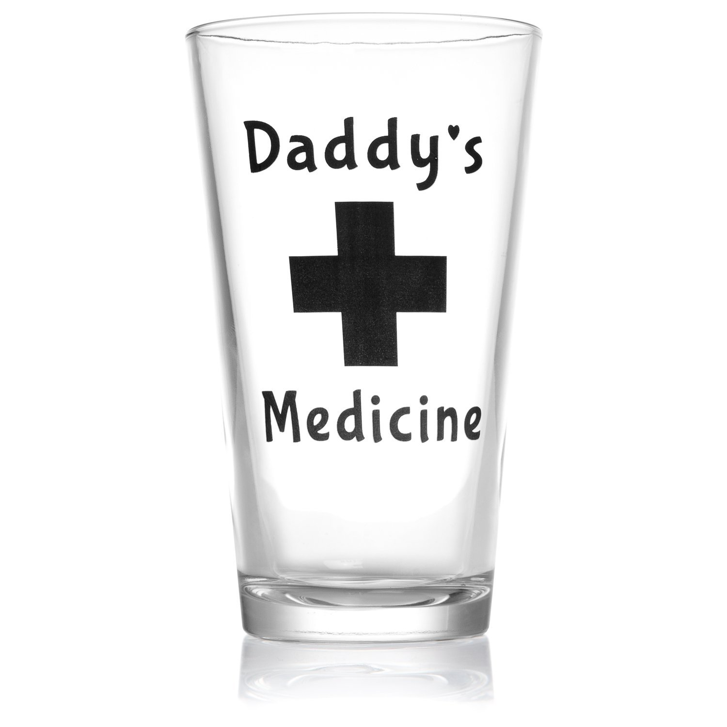 Amazon.com   Daddy\'s Medicine Funny Beer Glass Pint 16 Oz Cool Gift ...