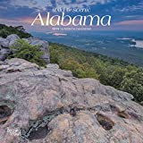 Alabama, Wild & Scenic 2019 7 x 7 Inch Monthly Mini Wall Calendar, USA United States of America Southeast State Nature