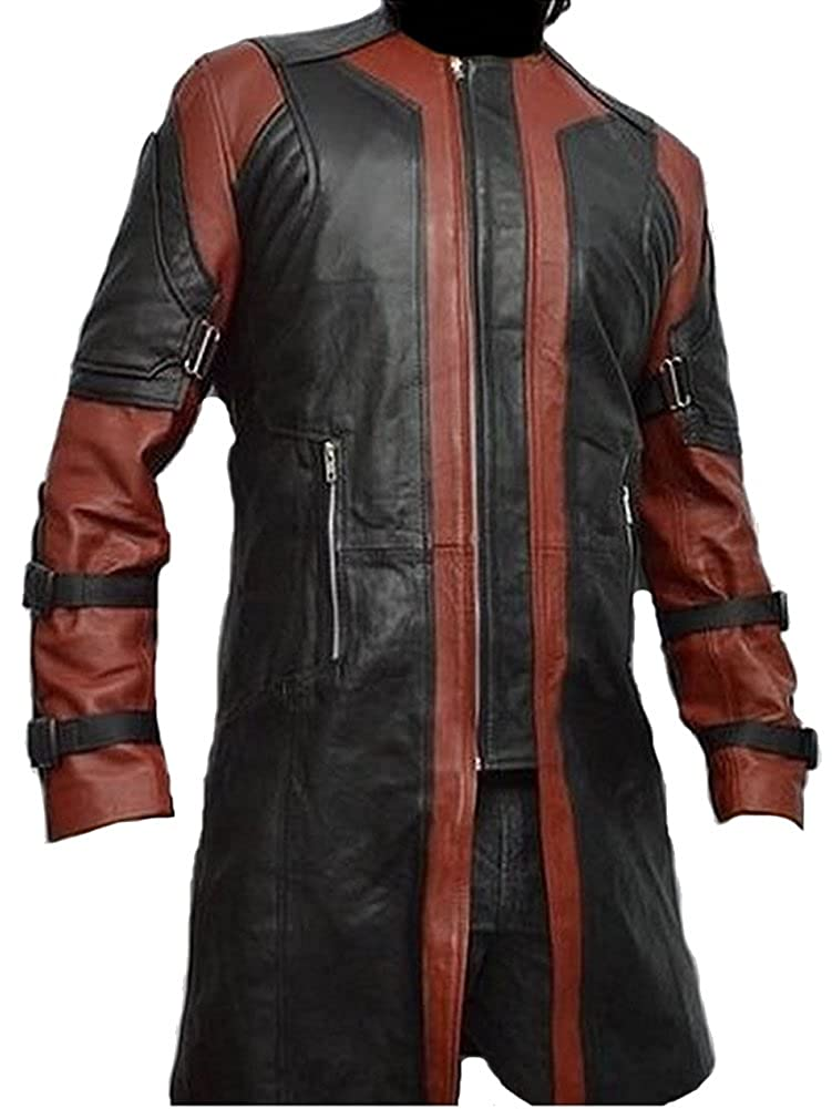 The Avengers: Age of Ultron Men's Clint Barton Hawkeye Genuine Leather Coat - DeluxeAdultCostumes.com