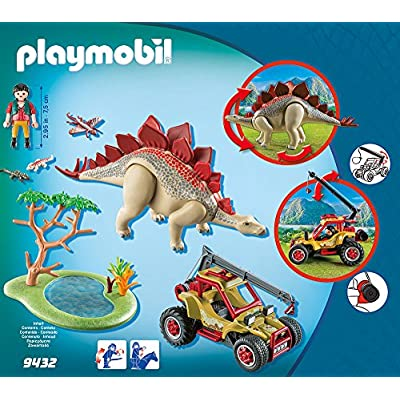 PLAYMOBIL Explorer Vehicle with Stegosaurus Building Set: Toys & Games