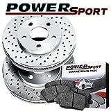 2009 pontiac g8 brake rotors - [FRONT] PowerSport Cross-Drilled Brake Rotors and Ceramic Pads BLXF.62120.02
