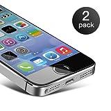 foto                       Pellicola Vetro Temperato iPhone SE/ 5/ 5S Coolreall® 2 Pack Pellicola Protettiva Film Screen Protector Ultra Resistente (0,25mm HD Alta trasparente)