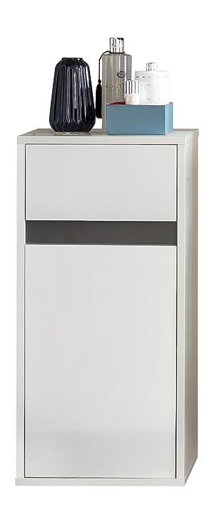 Trendteam Badezimmer Hängeschrank Wandschrank Badkommode Sol, 35 X 73 X 31  Cm In Korpus Weiß