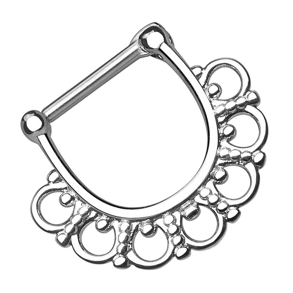 Nasenpiercing Septum Clicker Ring Vintage Fächer Nasenring Tragus Ohr Piercing