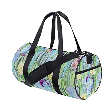 b80501fdfcfc Image Unavailable. Image not available for. Color  OuLian Sports Bag  Beautiful Cactus Custom Mens Duffle Luggage Travel Bags Kid ...