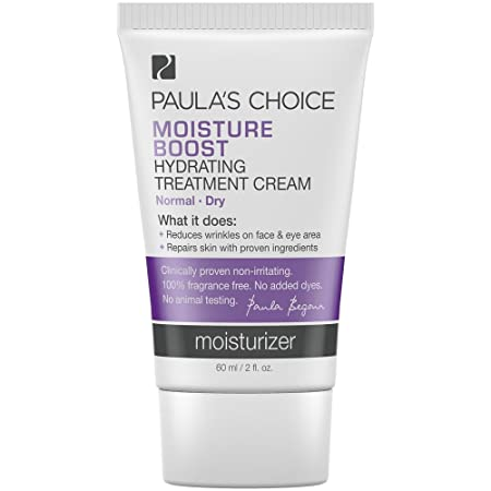 Paula s Choice MOISTURE BOOST Hydrating Treatment Cream, Niacinamide Hyaluronic Acid, Face Moisturizer for Dry Skin, 2 Ounce