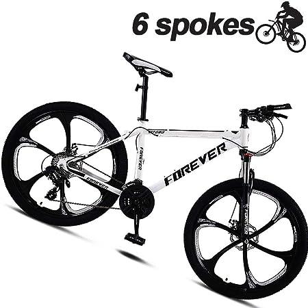 M-TOP Bicicletas De Carretera De Carbono 24 Bicicleta De Montaña Adulto con Freno De Disco Mecánico Y Delantera Suspensión Mountain Bike BTT para Mujer/Hombre,Blanco,30 Speed: Amazon.es: Hogar