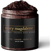 Mary Magdalene Coffee, Cinnamon & Coconut Oil Body Scrub - 100% Natural, Anti Cellulite & Stretch Mark Treatment - 8.4…