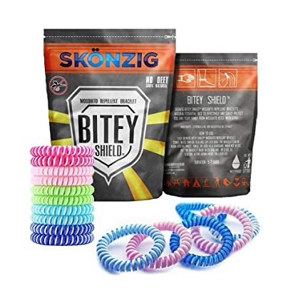 Skonzig BiteyShield Natural Mosquito Repellent Bracelets, No Deet Pest  Control Repeller, Best for Indoor, Outdoor Against Mosquitoes & Gnats  Bites